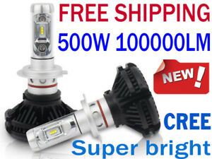 500W 100000LM CREE LED Headlight Light Bulb Lamp Kit H1 H4 H7 9005