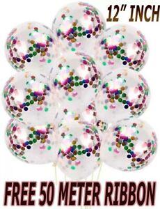 UK100-lot-de-confettis-ballons-latex-12-034-decorations-a-L-039-helium-Fete-D-039-anniversaire