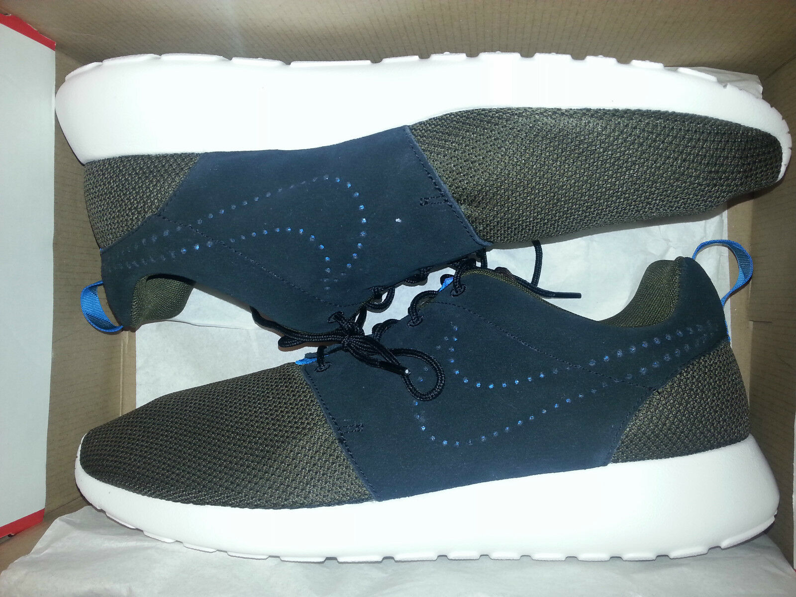 NIKE ROSHERUN ROSHE RUN BLACK/LODEN BROWN SHOES