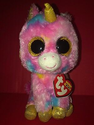 """FANTASIA the Unicorn 6/"""" Special PROMO Tag TY Beanie Boos MWMT WE.ORG Hang Tag"""