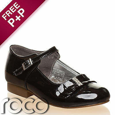 Girls Black Shoes. Flower Girl Shoes, Prom Shoes, Kids Shoes, Communion Shoes