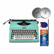 Royal Classic Retro Manual Typewriter Mint Green With Extra Ribbons Bundle