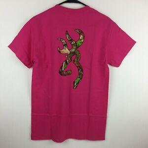 3cd28ead079fa Browning Buckmark T-Shirt Mossy Oak Camo Logo Tee Color Fuchsia Dark ...