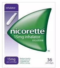 6 Packs of Nicorette 15mg Inhalator 36 Cartridges--2019 Expiry