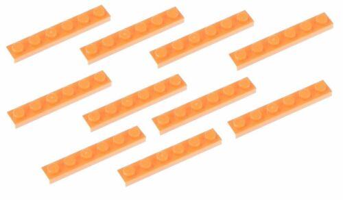 Lego Orange Plate 1x6 10 pieces 3666 NEW!!!