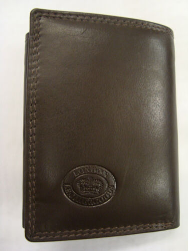 Gent's High Quality Luxury Soft Leather Shirt  Wallet Trifold Slim Dark Brown