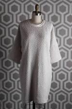 NWT 10 Crosby Derek Lam Knot Leather Trim Knit Dress 8 $495 White Cream Black