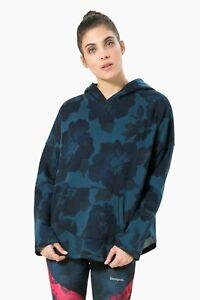 Sport Sweatshirt Kapuzen Denim Oversize w sweat hoodie Desigual H Blau 4ZnqxH7Z