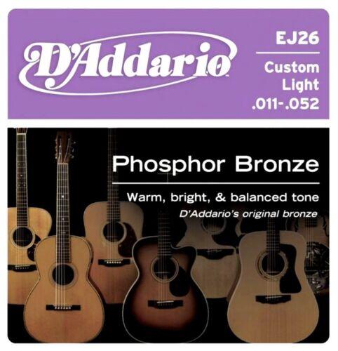 D Addario EJ 26 Custom Light 011-052 Phosphor Bronze Western Gitarren Saiten