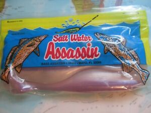"""Bass Assassin Lures Saltwater Assassin 6/"""" Albino Shad Sea Shad 4 Pack Brand New!"""
