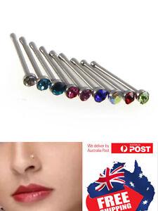 316L-20g-Nose-Bone-Stud-Straight-Stem-Bar-Screw-Ring-2mm-CZ-top-Jewellery-1pc