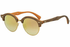 603f834ac7 Ray-Ban Rb4246m Clubround Wood Clubmaster Copper Gradient Flash Lens  Sunglasses