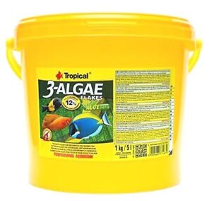 Flocons tropicaux à 3 algues 5000 ml de nourriture pour poisson spiruline (7,78 € / 1000 ml)