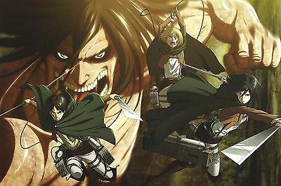 Attack Titan 01 Poster A3 Shingeki No Kyojin Eren Jaeger Shirtless Armin