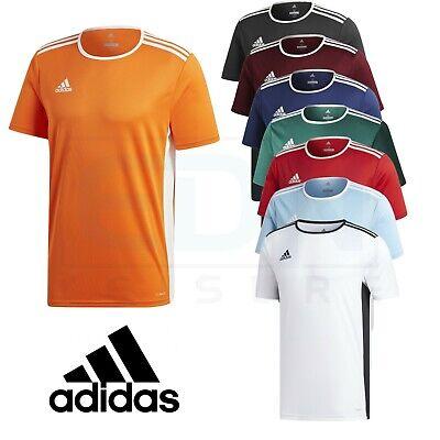 Adidas homme t shirt football haut d'entraînement gym climalite entrada taille m l xl xxl | eBay