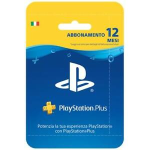 SONY-PlayStation-Plus-Card-Hang-Abbonamento-12-Mesi