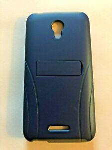 ALCATEL-VERSO-Cell-Phone-Case-Kickstand-Navy-Blue-Gray