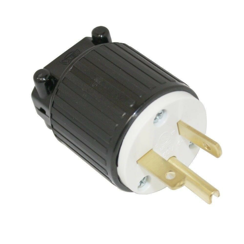 220 250 Volt Straight Sideways Electric Plug 3 Wire 20 Amps 250v Sockets And Wiring For Electricity Royalty Free Stock Image Photo