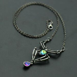 image is loading new spider crystal gothic punk retro pendant necklace