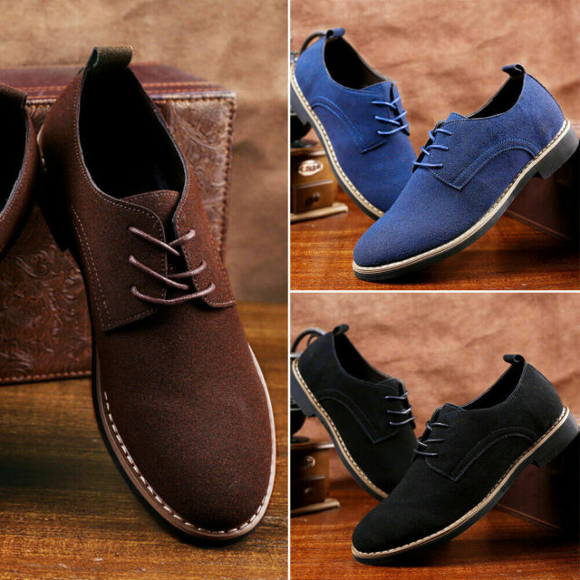 Fashion 6 colors Suede European style leather Shoes Men/'s oxfords Casual Multi