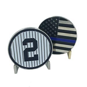 Number-2-Yankees-Jeter-Thin-Blue-Line-Challenge-Coin-Police-NYPD