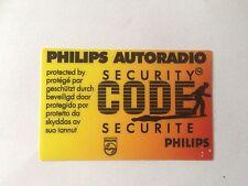 Philips Autoradio Security Code Protected Window Sticker Vauxhall Cavalier Astra