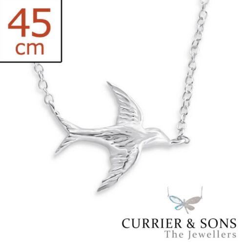 45cm // 18 inch 925 Sterling Silver Bird Pendant Necklace Design 5