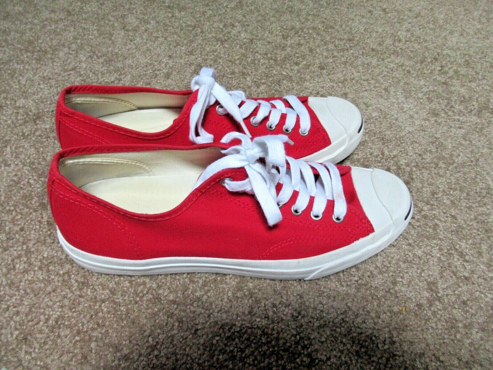 ~~VINTAGE 90's Dead Stock Red Canvas JACK PURCELL… - image 2