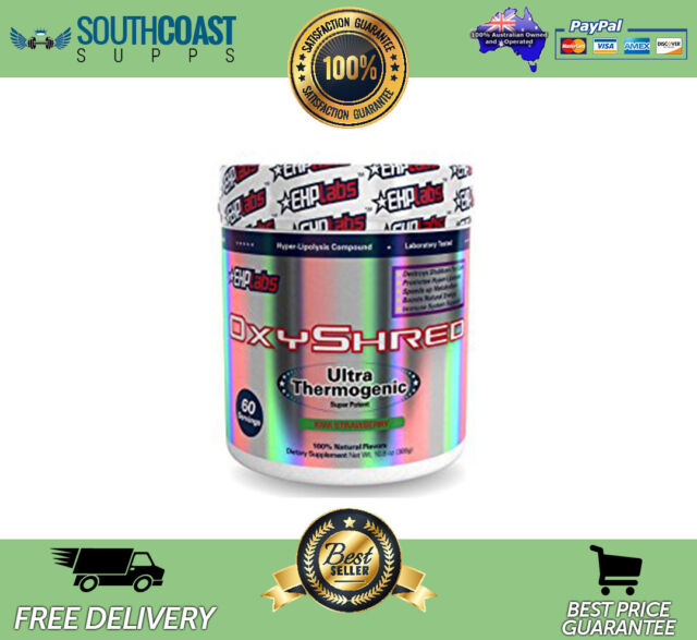 NEW EHPLABS OXYSHRED THERMOGENIC BEST SELLING FAT BURNER KIWI STRAWBERRY FLAVOUR
