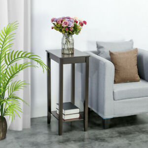 Details about Tall End Table Chair Side Accent Modern Coffee Stand  Nightstand Bed Living Room