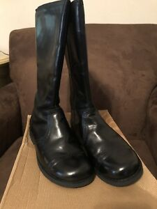 f856935defd Details about Ugg Girls Maisie Black Leather Riding Boots Sz 6 (Women's Sz  8) Like New Worn 3x