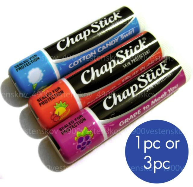 ChapStick grape cotton candy fruit punch sealed lip balm stick pick 1 or 3pc set