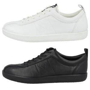 Details zu Ecco Soft 1 Ladies Schuhe Damen Leder Halbschuhe Sneaker Schnürer Biom II 400503