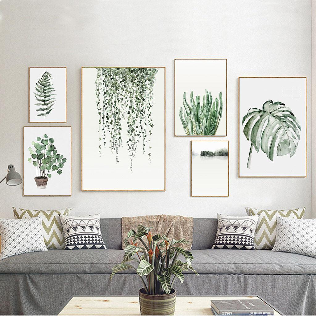 פוסטרים ירוק לבן - צמחיה, צמחים, עלים באווירת פאנג שוואי