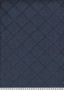 Steppstoff-034-Moskau-034-Vlies-wattiert-Okoe-Tex-Standard-meliert-Dunkelblau-145cm
