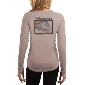 c18a5b2279 Nantucket Sound Chart Women's UPF 50+ UV/Sun Protection Long Sleeve ...