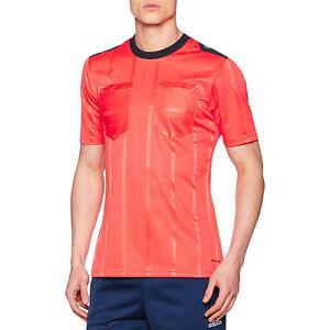 Détails sur Adidas Performance Homme ClimaCool Manches Courtes UCL Football Arbitre Jersey Rouge afficher le titre d'origine