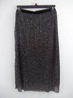 Bobeau Black / Silver A-line Skirt Plus Sz. 1x