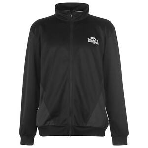 Mens-Lonsdale-Two-Stripe-Tracksuit-Top-Jacket-Zip-New