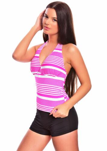 V13-fl4u Femmes Neuf Dos-nu Bauchweg Push UP Tankini Bikini maillot de bain mode 40