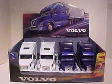 Pack of 4 Volvo VN-780 Sleeper Semi Tractor Rig Truck 1:32 NewRay 12 inch BLU WH