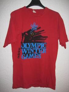 shirt Adidas Tee Jo Olympiques d'Hiver S Vintage Jeux Rouge 3jqAR54L