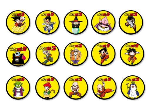 Lot Pack Magnet Aimant Frigo Ø38mm Dragon Ball Z Manga DBZ Son Goku