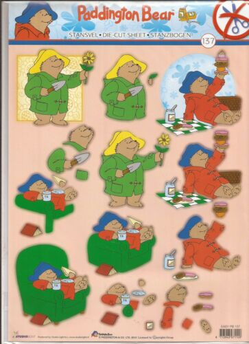 Paddingtom Bear A4 Die Cut 3D Decoupage Sheet 056-137
