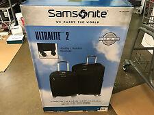 "New Samsonite Ultralite ll Luggage Spinner Set Black 2 Piece 27"" 21"" Best Priced"