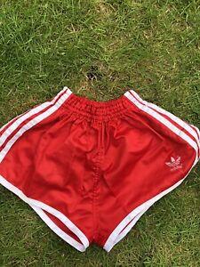 73525103f0 Image is loading Adidas-Nylon-Sprinter-Shorts-Glanz-Vintage-Football-Swim-