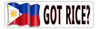 Philippine Flag Decal Bumper Sticker Personalize Gifts White 3 X 10 Outdoors