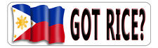 """Philippine Flag Decal Bumper Sticker Personalize Gifts White 3"""" x 10"""" Outdoors"""