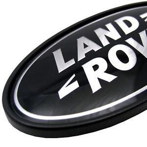 Range-Rover-P38-BLACK-SILVER-oval-rear-LAND-ROVER-badge-upgrade-logo-decal-HSE