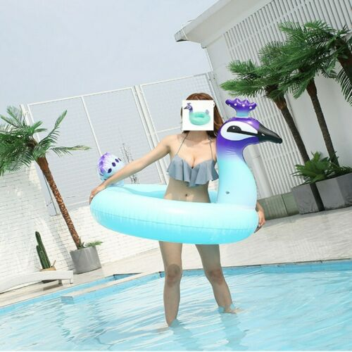 60-90cm Novelty Swim Ring Inflatable Pink Rubber Holiday Swimming Pool Ring Kids